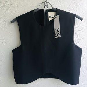 BLQstylist black crop blouse